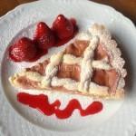 Crostata con crema pasticcera alla fragola