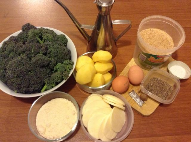 ingredienti sformato di broccoli e patate