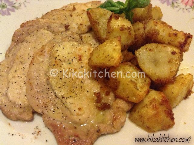 scaloppine di arista con patate al forno