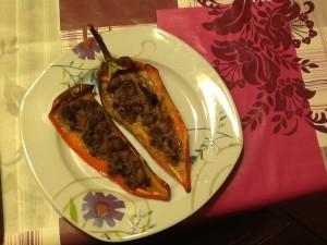 peperoni ripieni con crema di philadelphia