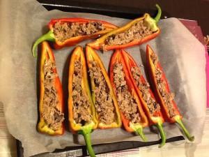 Peperoni ripieni - usciti dal forno
