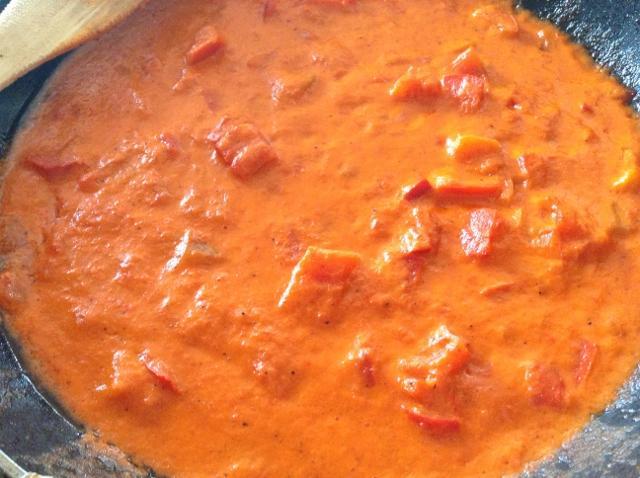crema di peperoni per pasta