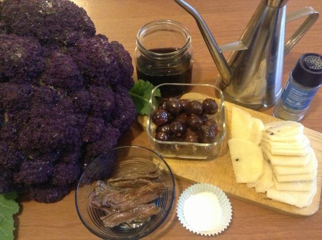 ingredienti cavolfiore affogato
