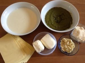 ingredienti lasagne al pesto