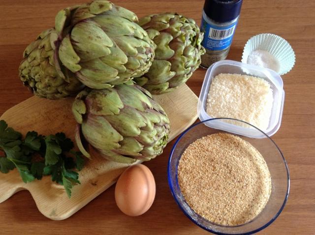 ingredienti polpette di carciofi
