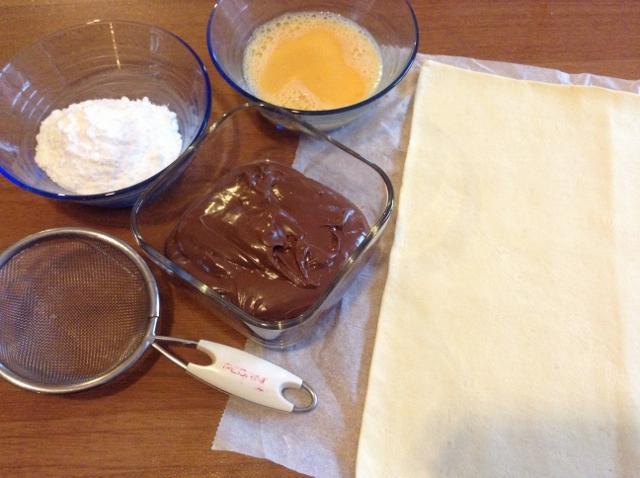 ingredienti saccottini ripieni di nutella