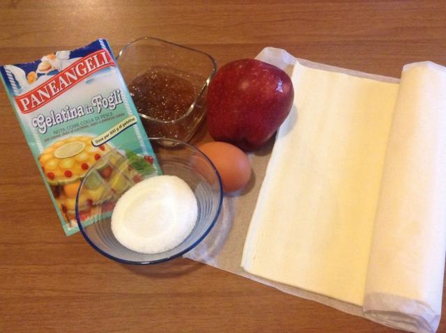 ingredienti sfogliatine alle mele