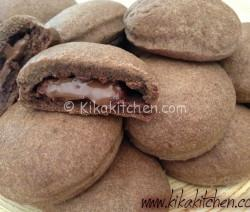 Biscotti al cioccolato ripieni di nutella (biscotti Grisbì)