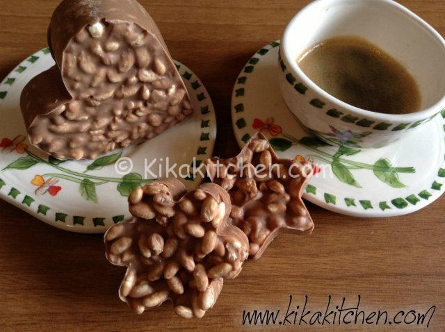 dolcetti di riso soffiato con cioccolato kinder