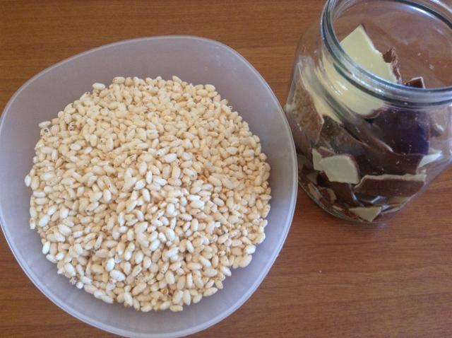 ingredienti dolcetti con riso soffiato