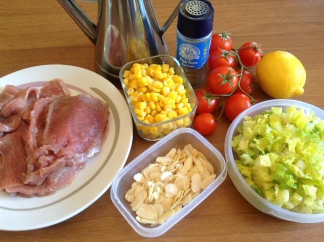 ingredienti insalata di pollo