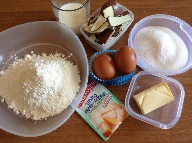 ingredienti muffin con cioccolato kinder