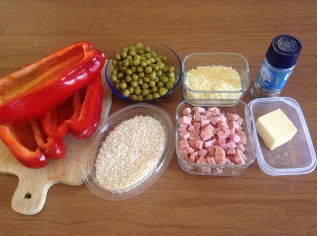 ingredienti peperoni ripieni di riso