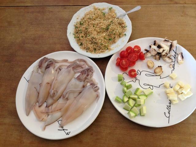 ingredienti per farcire i calamari