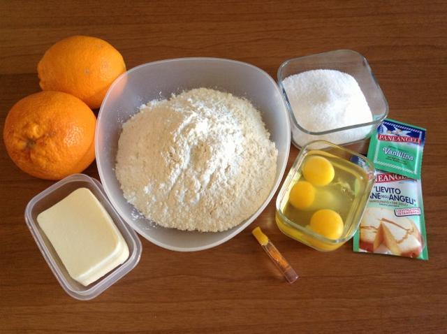 ingredienti torta alla arancia
