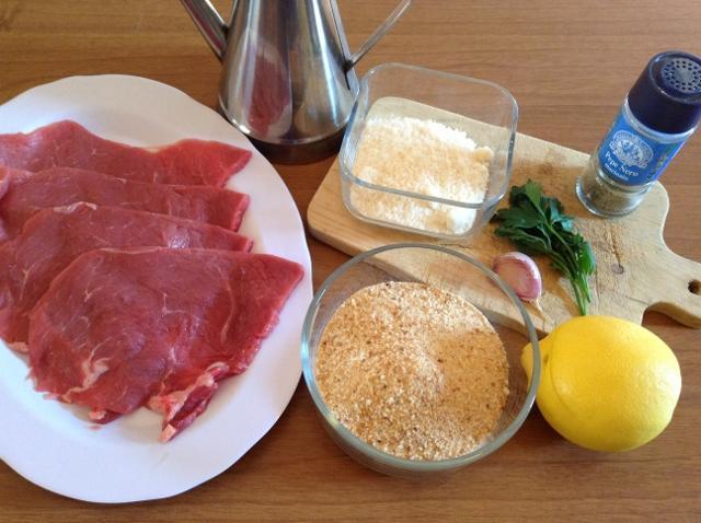 ingredienti cotoletta alla palermitana1