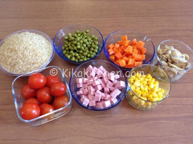 ingredienti insalata di riso leggera