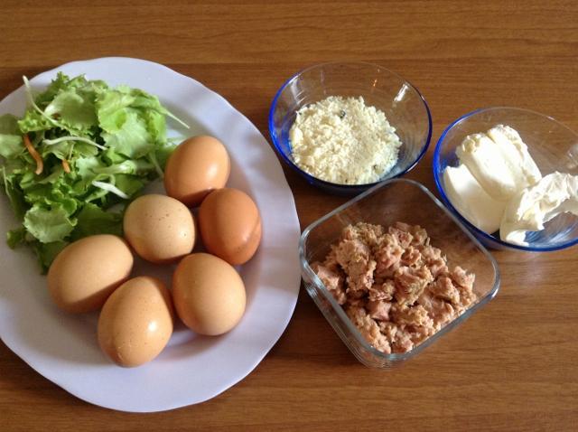 ingredienti rotolo di frittata