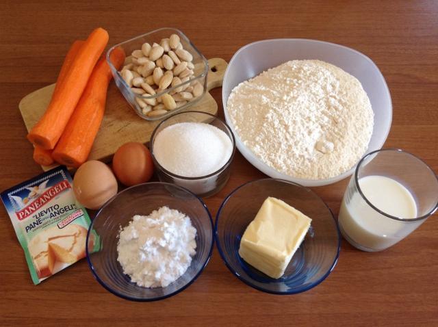 ingredienti torta di carote1