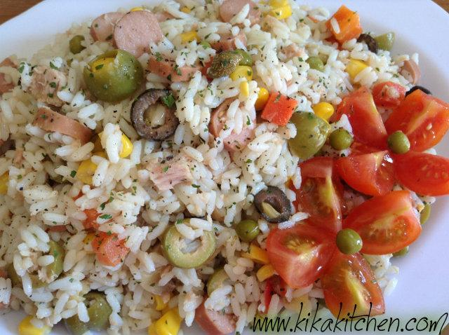 Insalata di riso. Ricetta facile passo passo