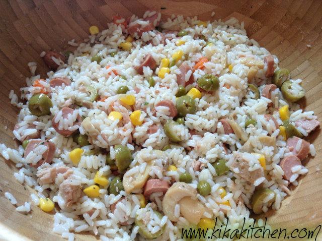 insalata di riso senza condiriso