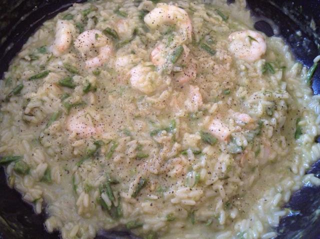 mantecare il riso con burro e parmigiano