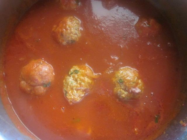 polpette con la salsa
