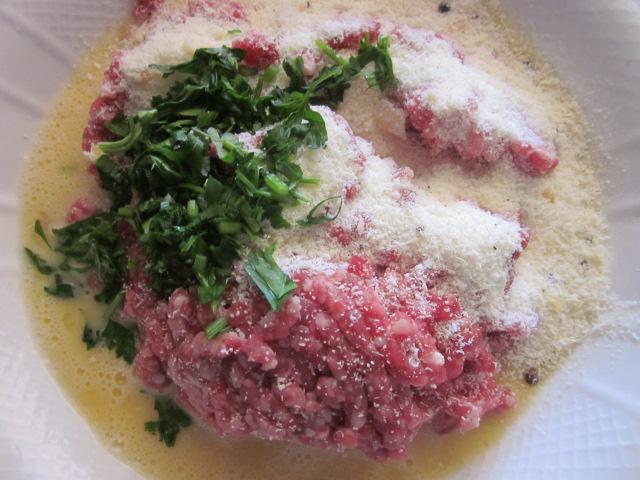 uova parmigiano pangrattato polpette