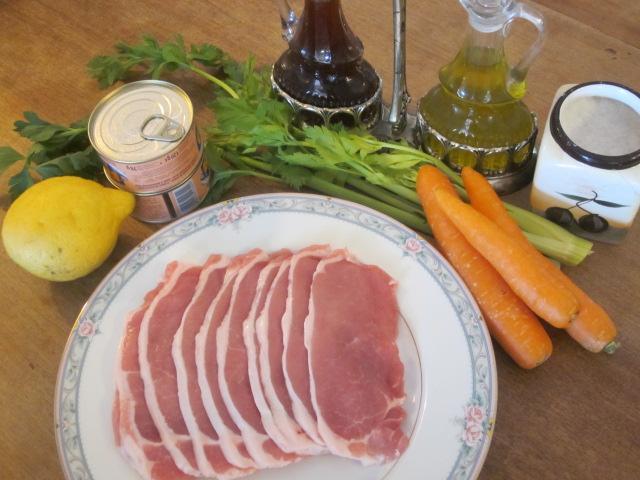 Ingredienti arista in salsa verde