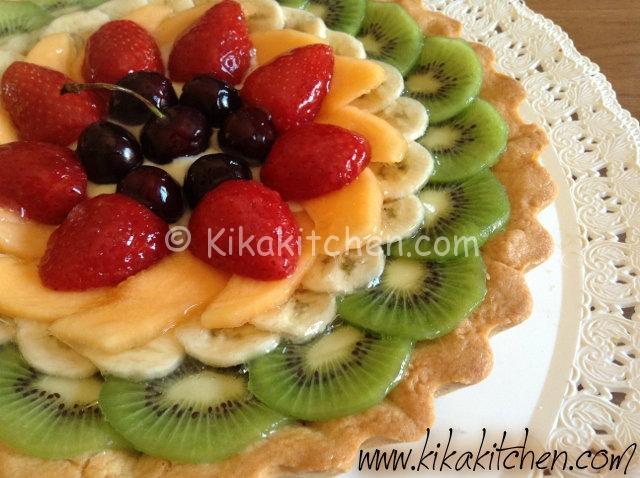 Crostata di frutta con crema pasticcera. Ricetta passo passo