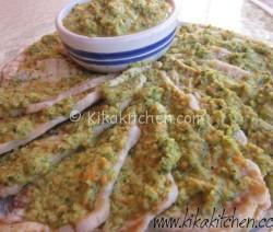 Fettine di arista in salsa verde. Ricetta passo passo