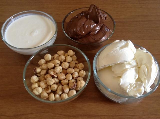 ingredienti cheesecake alla nutela