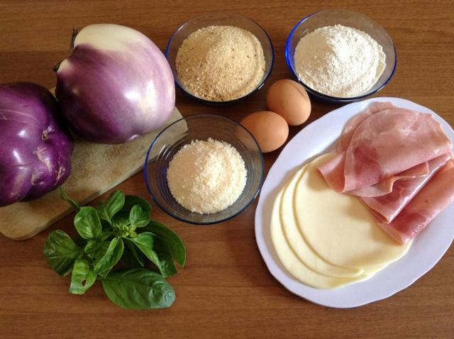 ingredienti cordon bleu di melanzane
