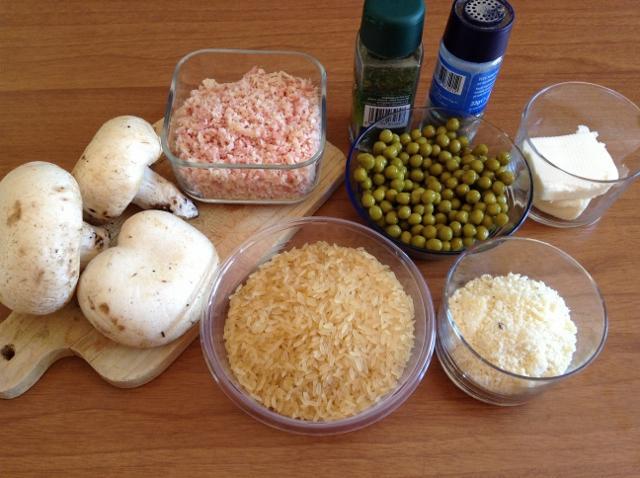 ingredienti funghi ripieni di riso