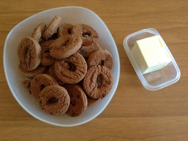 biscotti per cheesecake al cioccolato