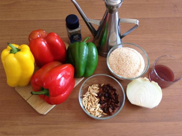 ingredienti peperoni con la mollica