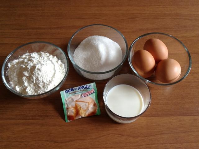 ingredienti per la pasta biscotto