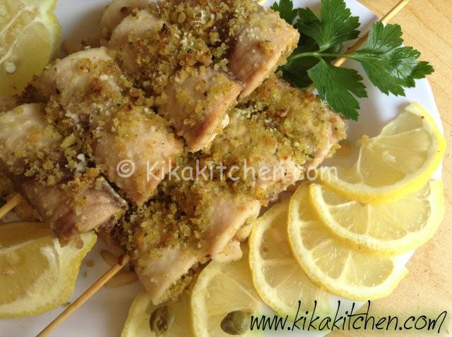 Involtini di pesce spada al forno. Ricetta facile