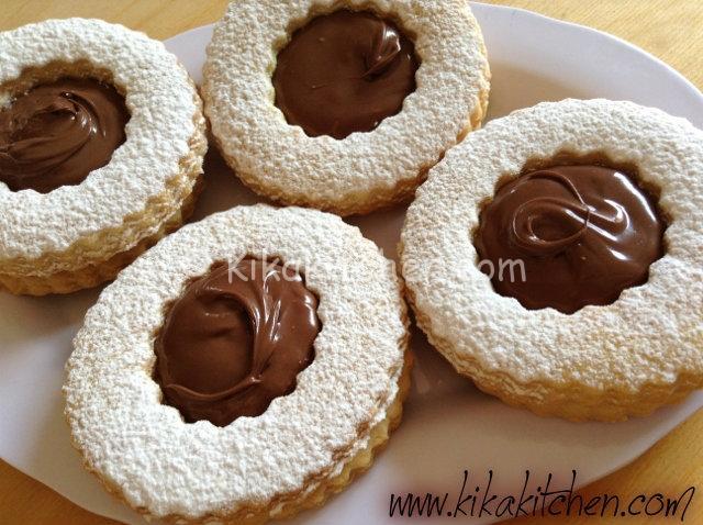 Occhi Di Bue Alla Nutella Biscotti Con Nutella Kikakitchen