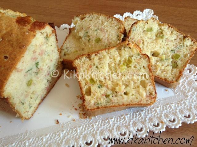 Plumcake salato (con prosciutto e piselli)