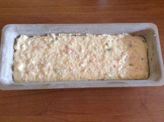 plum cake salato prima del forno