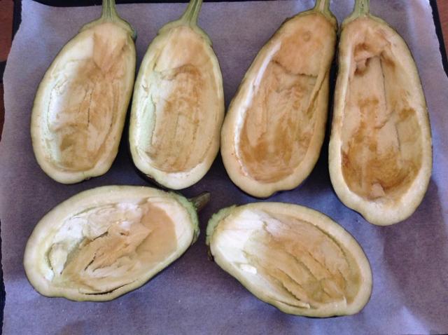 svuotare le melanzane