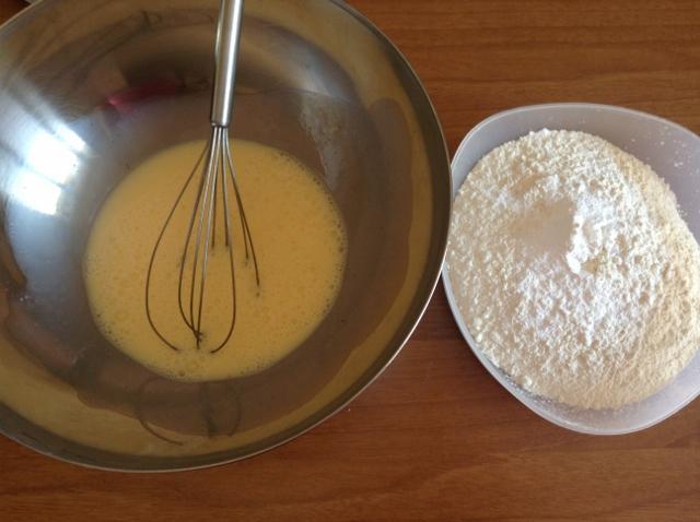 uova e farina per plum cake salato