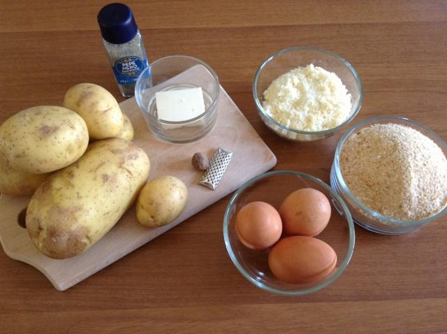 ingredienti crocchette di patate