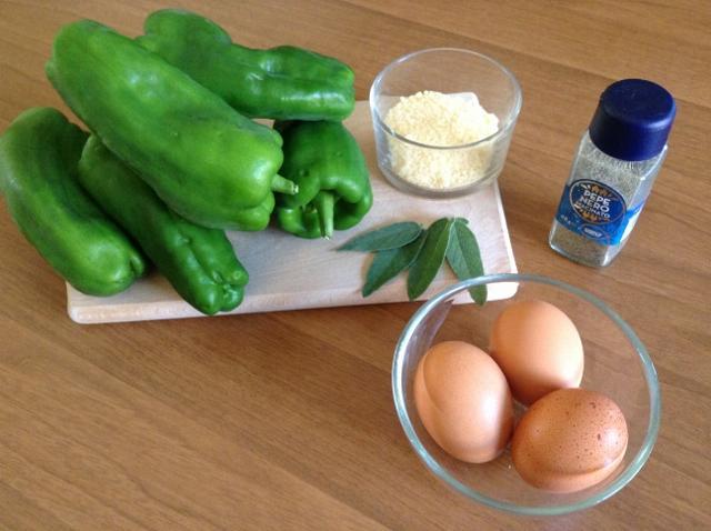 ingredienti frittata di peperoni