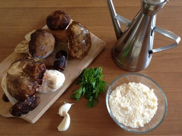 ingredienti per ravioli ripieni di funghi