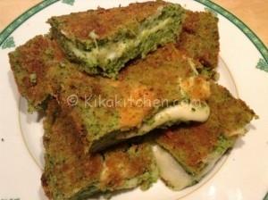 Sformato di broccoli e patate, gratinato in forno