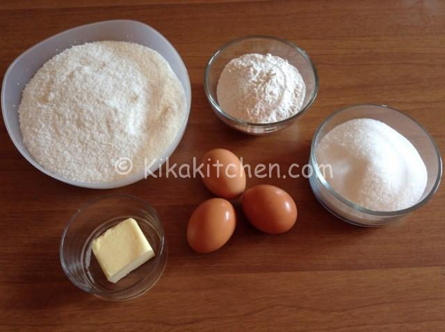 ingredienti biscotti al cocco gemme di riso