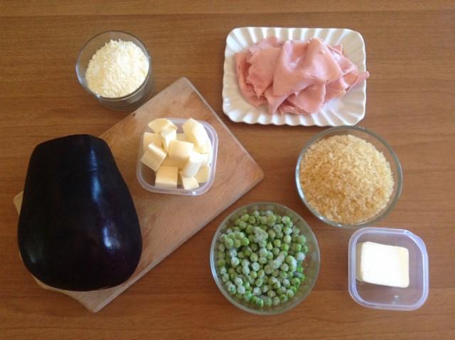 ingredienti ciambella di riso con melanzane