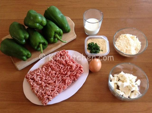 ingredienti peperoni ripieni di carne